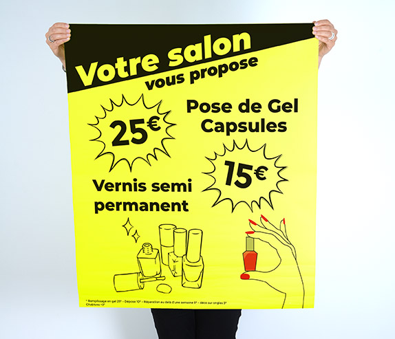 affiche-papier-jaune-fluo