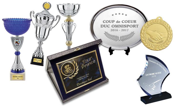 coupes et trophées personnalisés