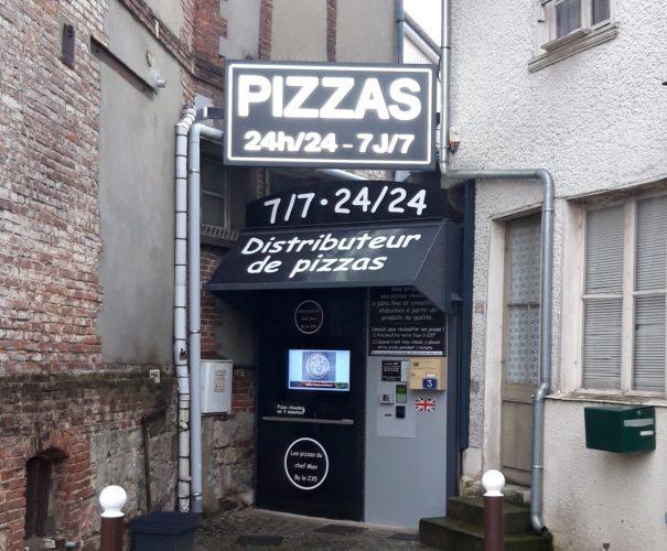caisson lumineux pizza
